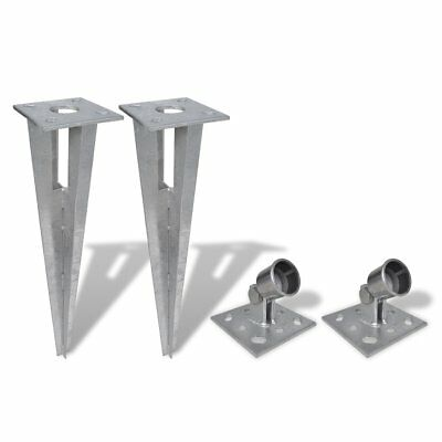 New Strive Post Supporter Fence Anchor Fence Reparing Spike Pole Holder 2 Sets