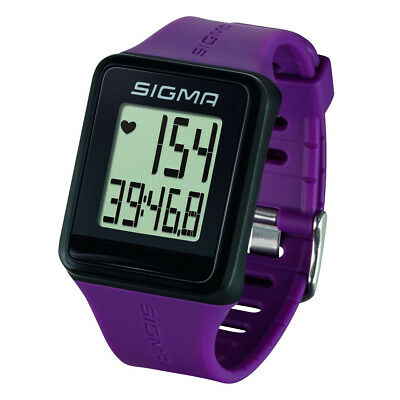Sigma Heart Rate Monitor Activity Tracker Exercise Wristband  iD.GO Plum 24510
