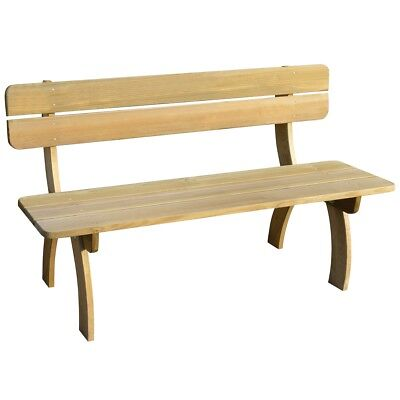 Impregnated Pinewood Wooden Garden Bench Chair Park Seat Outdoor Furniture
