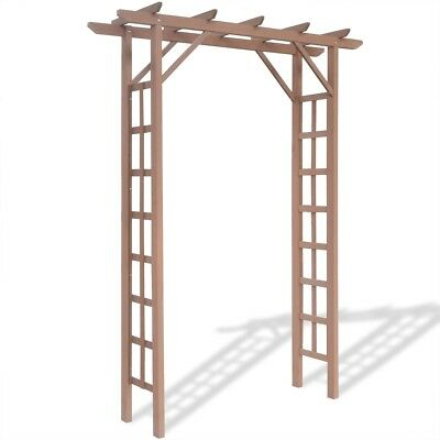 WPC Rose Arch Pergola Shade Frame Plant Support w/ Flat Top 150x50x200 cm Brown
