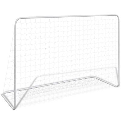 New Steel Football Goal Set 182 x 61 x 122 cm 100% Polyester Easy to Assemble