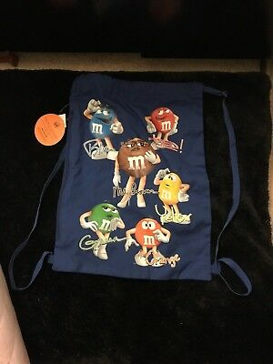 M&M's CANDY THEME GREAT COLLECTORS Item Royal Blue M&M Gang Promo Tote
