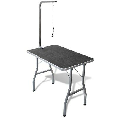 New Portable Dog Grooming Table with Castors MDF Rubber Adjustable Soft Pet