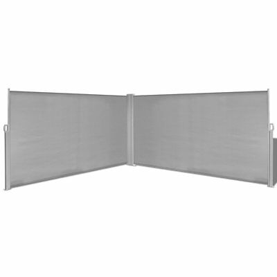Garden Patio Sunshade Blind Retractable Side Awning Double-sided Outdoor Screen