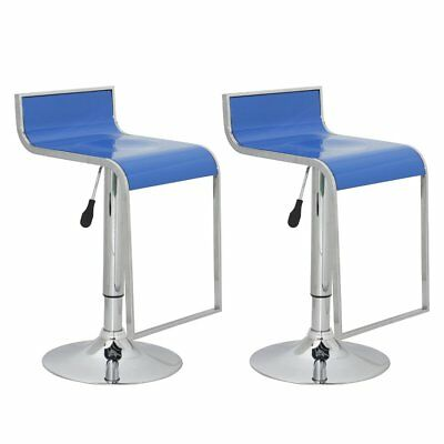 New Set of two bar stools blue ABS plastic bar chair dining stool bar furniture