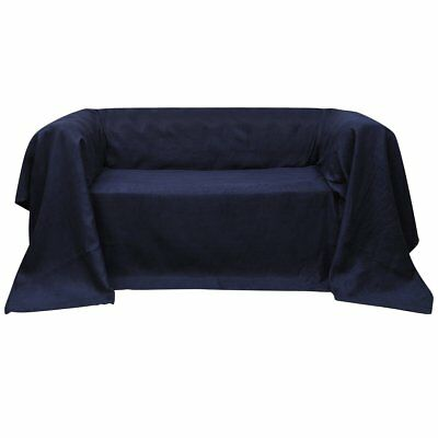 Micro-suede Couch Armchair Recliner Lounge Sofa Slipcover Protector Navy Blue