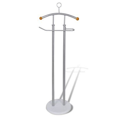 New Top Quality Valet Stand Coat Shirt Rack Organizer Metal Frame Sturdy Grey