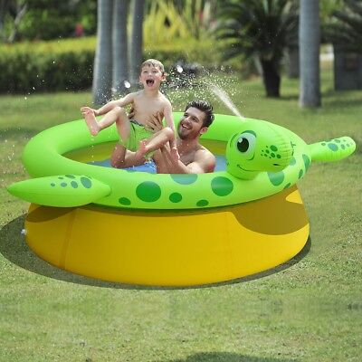 Jilong Inflatable Spray Pool Swimming Family Garden Turtle Shape 175x62 cm 1270L