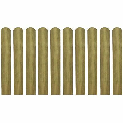 10 pcs Impregnated Pinewood Wooden Fence Slat Panel 60 cm Garden Patio Fencing
