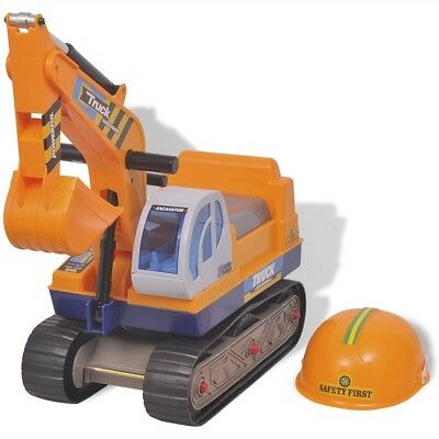 Children Kids Toddlers Ride-on Excavator Vehicle Plastic Yellow Gift Role Play