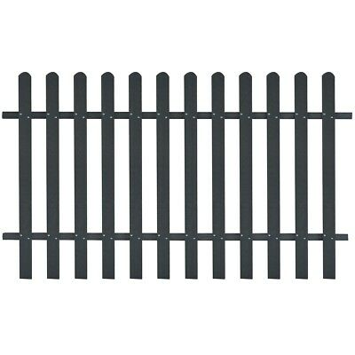 WPC Picket Fence Panels Portable Event Display Barrier Temporary 200x120 cm Grey