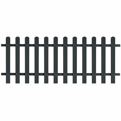 WPC Picket Fence Panels Portable Event Display Barrier Temporary 200x80 cm Grey