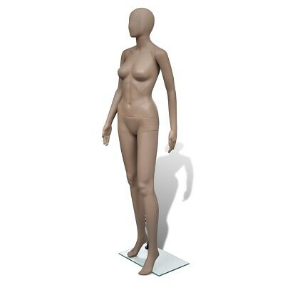 New Dress Form Mannequin Women Glass Base Skin Colour Rotatable Arm Round Head