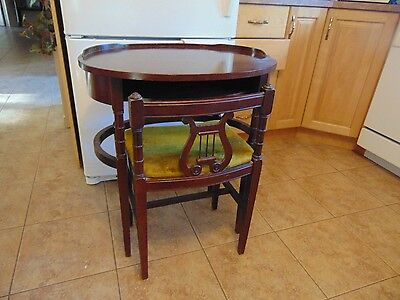 vintage /antique   stand  with chair  nice