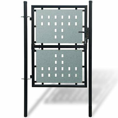 Metal Single Door Fence Garden Mesh Gate with Lock Patio Fencing Terrace Outdoor
