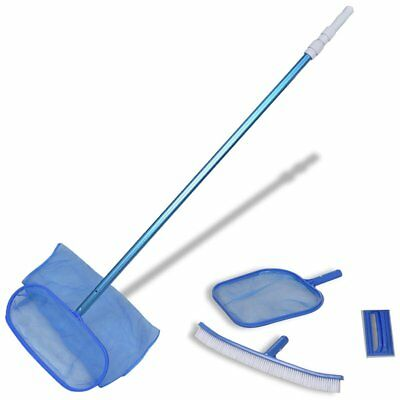 New Swimming Pool Spa Cleaning Tool Set Leaf Skimmers / Brush / Scrubber / Pole