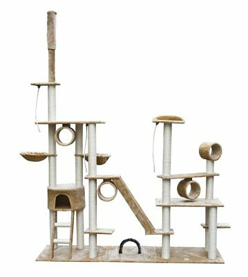 New Cat Tree Scratcher Post Toy Bed Furniture Plush Deluxe 230 - 260 cm Beige