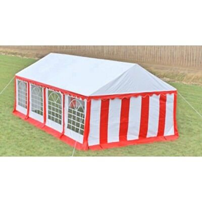 New Durable Party Tent Top Canopy Marquee and Side Panels 8 x 4 m Red & White