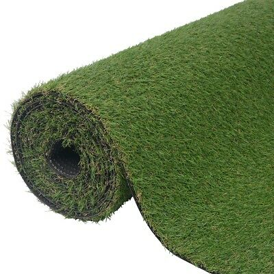 Artificial Grass Fake Lawn Turf Mat Garden UV-resistant 1x15 m/20-25 mm Green