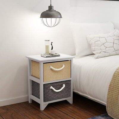 Wooden Bedside Cabinet Storage Table Nightstand Bedroom End Telephone Stand