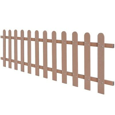 WPC Picket Fence Panels Portable Event Display Barrier Temporary 200x60 cm Brown