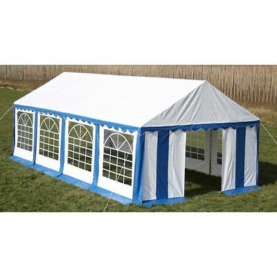 New Durable Party Tent Top Canopy Marquee and Side Panels 8 x 4 m Blue & White