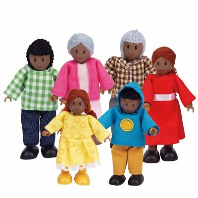 Hape Kids Children Baby Happy Family African American House Figure Toy E3501