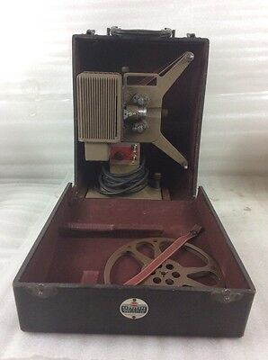 VTG 1940's Kodascope Eight-33 Projector with Original Case & Instructions