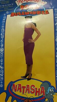 NATASHA of Rocky Bullwinkle Adult Costume NIP COSPLAY COMPLETE 1 size fits most