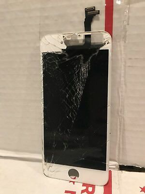 Lot of (6) Authentic / Apple - Cracked iPhone Screens