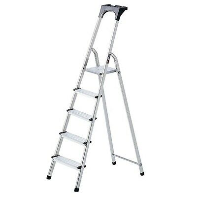 Brennenstuhl Stepladder w/ Work Tray High Safety Rail Aluminium 98 cm 1401250
