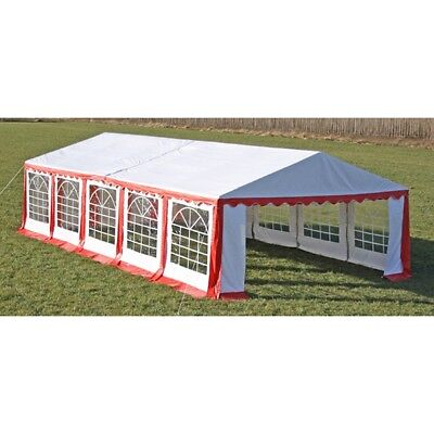 New Durable Party Tent Top Canopy Marquee and Side Panels 10 x 5 m Red & White