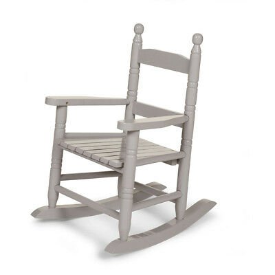 CHILDWOOD Kids Children's Rocking Chair Play Relaxing Seat Furniture Grey RCKSG2