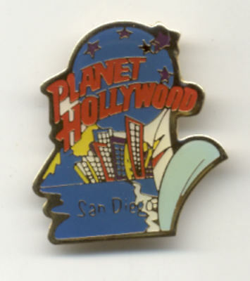 Planet Hollywood San Diego Cityscape City Pin