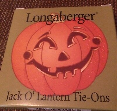 Longaberger Jack O' Lantern Tie-On Basket Accessory, #30096 Made In USA NEW