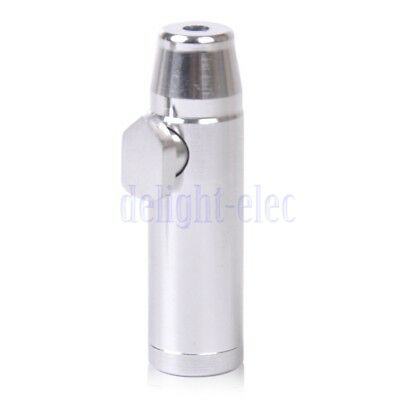 2x Metal Bullet Snuff Portable Mini Dispenser Snorter Rocket Shape Durable DG
