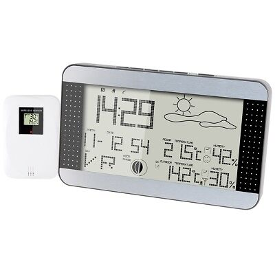 Alecto Wireless Weather Station Indoor Outdoor Temperature Humidity WS-1700