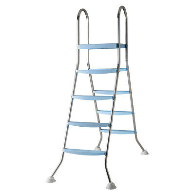 Gre 4-Step Above-ground Swimming Pool Safety Ladder Non-slip 132 cm AR11680