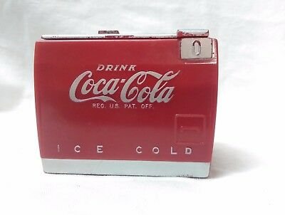 1950's Coca Cola Miniature Cooler Music Box - works