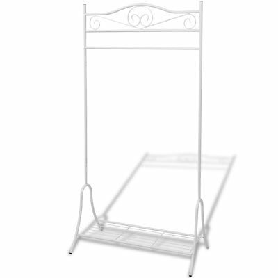 Clothing Rack Rail Garment Stand Hanger Dress Coat Shoes Storage Bar Shelf Steel