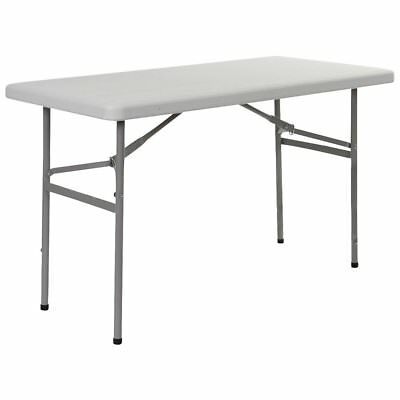 Red Mountain Folding Table Camp Hiking In/Outdoor Portable Steel White 1404370