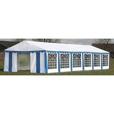 New Durable Party Tent Top Canopy Marquee and Side Panels 12 x 6 m Blue & White