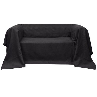 Micro-suede Couch Armchair Recliner Lounge Sofa Slipcover Protector Anthracite