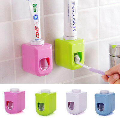 Kids Automatic Toothpaste Dispenser Squeezer Wall Mounted Rack Stand Holder Hot