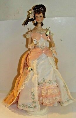 Orange Pekoe Barbie Victorian Tea  Porcelain Barbie Issued 1999 by Mattel