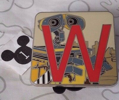 Wall-E Pixar Alphabet Mystery Collection Letter W Disney Pin Limited Release
