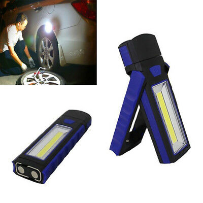 COB LED Magnetic Work Stand Hanging Hook Light Flashlight Super Bright Torch hh