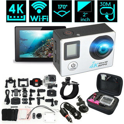 2.0 inch LCD Dual Screen 4K HD WiFi Sports DV Action Camera With Remote Control