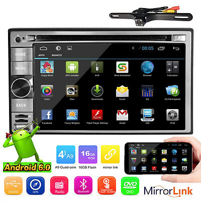 Android 6.0 Marshmallow Car Stereo GPS WIFI 6.2'' 2Din in dash Navi DVD Player