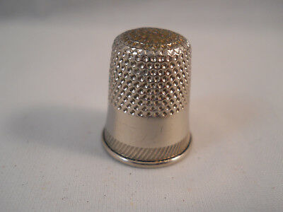 Vintage Aluminum Collectible Sewing Thimble -Size 9